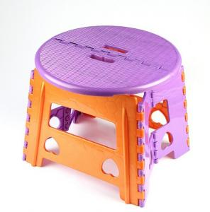 China Medium Size Foldable Plastic Stool with Bright Colors Outdoor plastic stools on sale