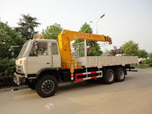 China dongfeng 6*4 12ton cargo truck with crane for sales, hot sale 210hp dongfeng dump truck with 8ton-12ton XCMG brand crane on sale