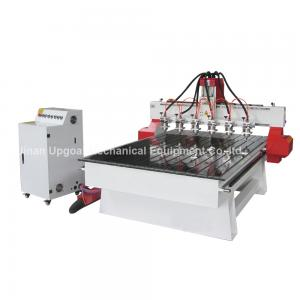 China 6 Spindle Heads Wood Relief CNC Router with 1300*1800mm Working Area Servo Motor on sale