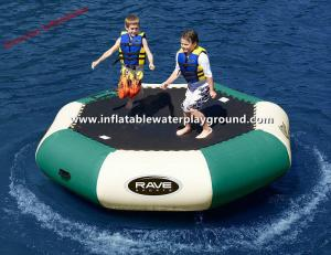China Large PVC Tarpaulin Inflatable Water Trampoline Pool , Water Inflatable Bouncer on sale