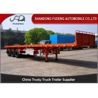 3 axle flatbed truck trailer for sale 40ft or 20ft container delivery trailer