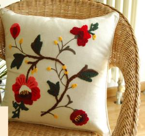 China High quality handcrafted embroidery pillow cover/case on sale