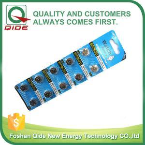 China batterie alcaline inoxydable de cellules du bouton 1.5V AG13/LR44 pour la montre d'or de womam on sale