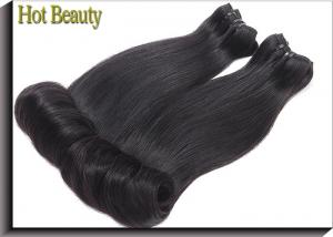 China Fashion Egg Curl Remy Virgin Weft Hair Extensions For Silky No Chemical on sale