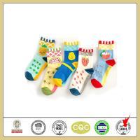China Cute cartoon custom jacquard design spring cotton socks for women on sale