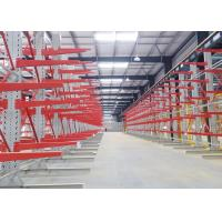 Adjustable Single Sided Cantilever Racks Customized Depth For Warehouse Storage
