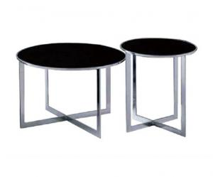 China Small End Round Metal Coffee Table With Metal Legs For Showroom 450 * 480mm on sale