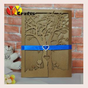 China wedding invitation card love tree cheap free sample paper baby shower invitation cards invitation/gift cards on sale