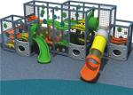 Sports Series Outdoor Playground Equipment With Transparent PC Panels And Large Slide