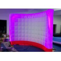 3 Meter Led Inflatable Wall 210 D Reinforce Oxford Material Logo Printing