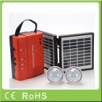 Sistema de iluminación casero solar de 3.4W 9V poder portátil al por mayor de la batería de plomo del mini