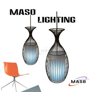 China MASO Art Goblet Shape Iron Pendant Lamp for Bar Application MS-I6015 Cloth Cover on sale
