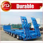 China Hot sale Heavy Load 4 axles 80 Tons Lowbed Semi Trailer for sale