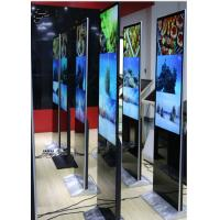 Standing Style Ultra Slim IR Touch Screen Kiosk With Advertising Playing Display