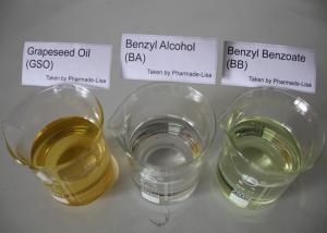 China Benzyl Alcohol BA Benzyl Benzoate BB Grape Seed Oil Chemical Additive Solvent Pharmaceutical on sale