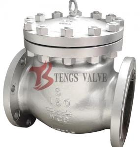 China Cast Steel Swing Check Valve , Flanged Non Return Valve ANSI 150LB H44H on sale