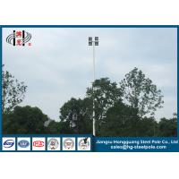 China Led High Mast Commercial Light Pole , Hot Dip Galvanized Flood Light Poles Q235 on sale