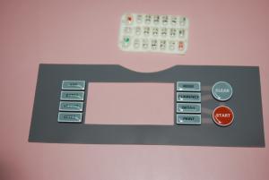 China Custom PET PC Keyboard Membrane Panel / Backlit Membrane Switch Overlay on sale