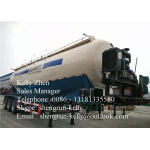 China 50000L Bulk Cement Trailer with v - shaped / double / triple silo on sale