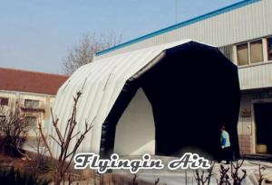 China 6m Pvc White Inflatable Stage Tunnel Tent for Concert, Music and Event on sale