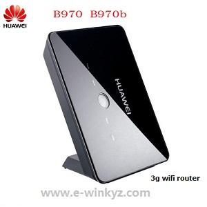 China Huawei B970b HSUPA HSDPA WCDMA 3g wifi router with sim card slot on sale