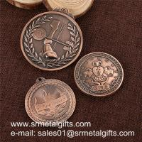 China Antique bronze engrved metal coins, custom metal token wholesale for cheap, on sale