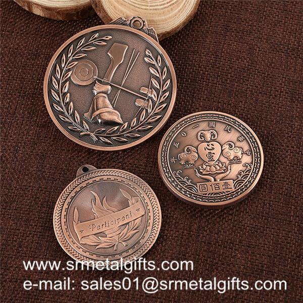 Antique bronze engrved metal coins, custom metal token wholesale for