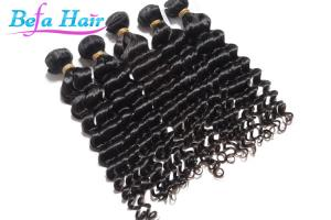 China Black Women Deep Wave Peruvian Human Hair Extensions Two Tone Ombre Hair Weave on sale