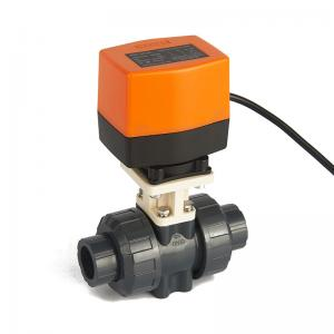 China 2 Way Electric Actuator Ball Valve , 3/4 Inch Water Control Motorized Ball Valve on sale
