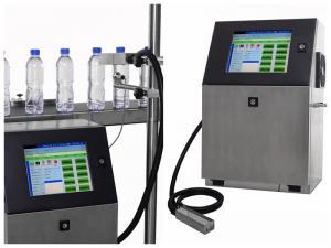 China CIJ Online 6meter/s (5*7 metrix) print speed Inkjet Printer And Expiry Date bottle date printing machine on sale