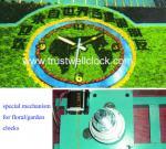 garden clock, movement mechanism for garden clocks,floral clock and mechanism,flower clocks and movement