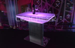 China Elegant Led Cocktail Table / Party Supplies Event Lounge Furniture Outdoor on sale