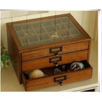 Vintage wooden treasure chest with drawers