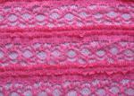 Чувствительное розовое вязать крючком крючком простирание ткани шнурка в одежде дам, Сокращение-Упорной