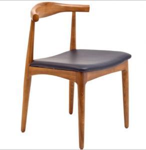 Quality Hans Wegner Replica Horn Design Solid Oak Wood Restaurant Dining Chair for sale