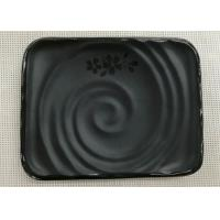 Japanese-style Rectangular Sushi Plate Black Melamine Dinnerware Weight 264g