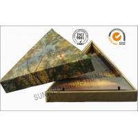 Triangle Handmade Mounting Custom Printed Corrugated Boxes With Hard Insert Cardboard