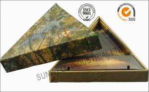 China Triangle Handmade Mounting Custom Printed Corrugated Boxes With Hard Insert Cardboard on sale