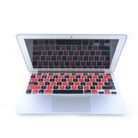 Black Red Silicone Laptop Keyboard Protective Film For iPad Air / iPad 5