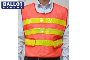 China Fluorescent Yellow Reflective Vest , 100% Cotton Outdoor Traffic Safety Vest on sale