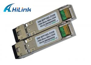 China DWDM 10GB SFP+ Module Fiber Optic Transceiver CH26 EML Transmitter SMF Cable Type on sale