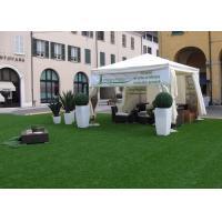 China 3 / 8'' Flat Yarn Shape Backyard Outdoor Artificial Turf / Fake Grass Landscaping on sale