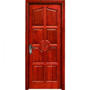 China hotel flush room door design MDF melamine door wood interior door on sale