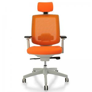 China Comfortable Presidential Office Chair For The Elderly With PU Surface 4D Armrests on sale