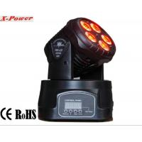 Professional Dj Lighting Equipment , 5*15W RGBWA LED Mini Moving Head Wash Light   X-12