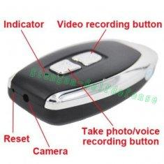Quality High Resolution micro car key camera with keychain hidden video recorder for sale