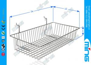 China Supermarket Chrome Wire Display Baskets with Square Base for Gridwall on sale