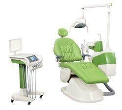 China Usa Impored Tube Colorful Integral Portable Dental Chair Mobile Cart For Hospital on sale