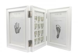 China Non Toxic Baby Handprint Kit Newborn Baby Footprint Photo Frame For Home Decoration on sale