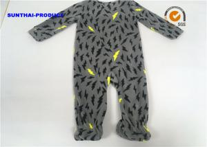 China Thunder AOP Baby Boy Pram Suit Microfleece Footie Zipper Closure Coverall on sale